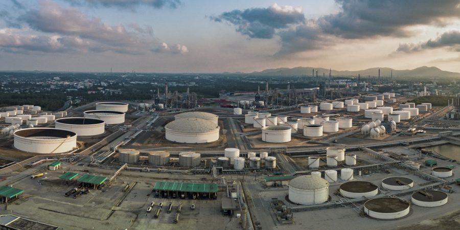 Raffineriegelände Luftbild